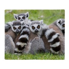 Ring-tailed Lemur (lemur Catta) Throw Blanket