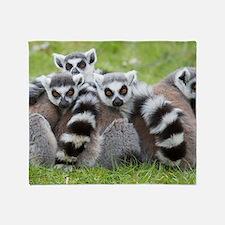 Ring-tailed Lemur (lemur Catta) Throw Blanket