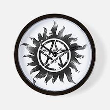 Anti-Possession Symbol Black (Glow) Wall Clock