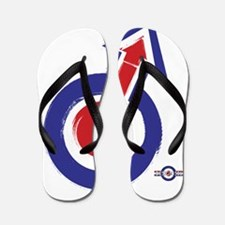 painted style mod target and arrow Flip Flops
