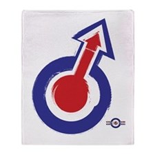 painted style mod target and arrow Throw Blanket