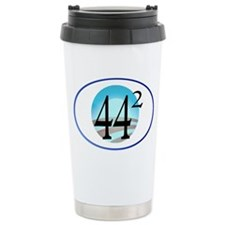 44 squared. Obama is Pr Travel Mug
