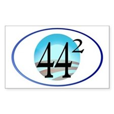 44 squared. Obama is President Decal