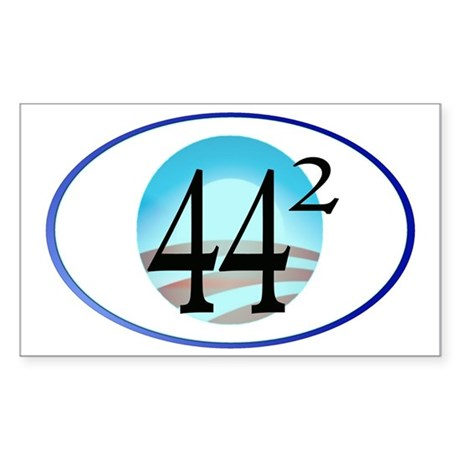 44 squared. Obama is President Sticker (Rectangle)