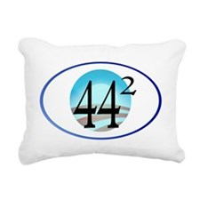 44 squared. Obama is Pre Rectangular Canvas Pillow