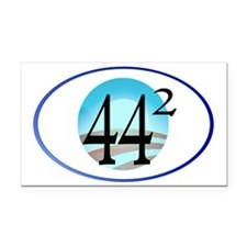44 squared. Obama is Presiden Rectangle Car Magnet