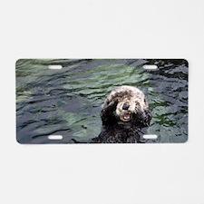 Sea Otter Aluminum License Plate