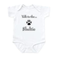 Sheltie Talk Infant Bodysuit