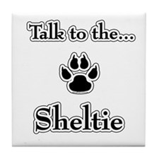 Sheltie Talk Tile Coaster