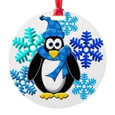 Penguin Snowflakes Winter Design Ornament