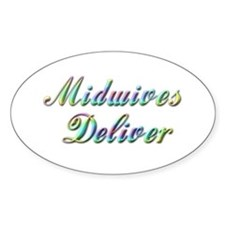 Deliver With This Oval Decal