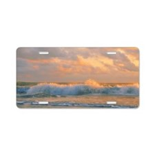 Sunlit waves Aluminum License Plate