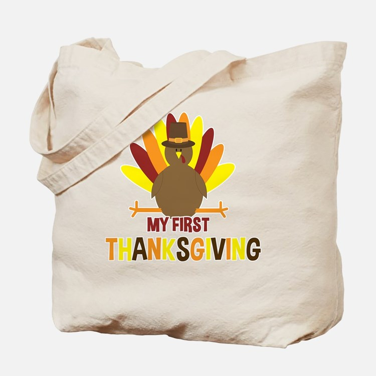 My First Thanksgiving Turkey Tote Bag
