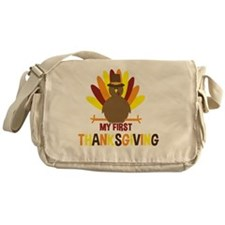 My First Thanksgiving Turkey Messenger Bag