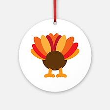 Turkey Face, Gobble Gobble Gobble F Round Ornament
