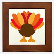 Turkey Face, Gobble Gobble Gobble Funn Framed Tile
