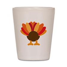 Turkey Face, Gobble Gobble Gobble Funny Shot Glass