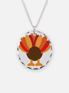 Turkey Face, Gobble Gobble G Necklace
