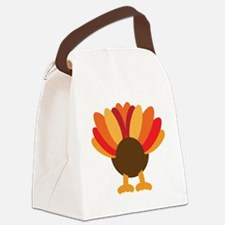 Turkey Face, Gobble Gobble Gobble Canvas Lunch Bag