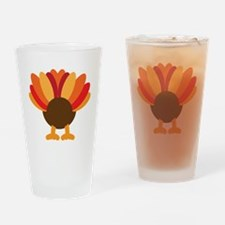 Turkey Face, Gobble Gobble Gobble F Drinking Glass