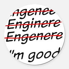 I am good with math Round Car Magnet