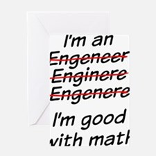I am good with math Greeting Card