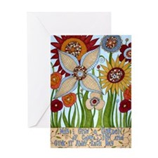 garden of compassion Greeting Card