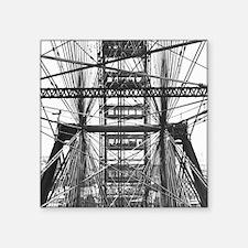 "Chicago Ferris Wheel Square Sticker 3"" x 3"""