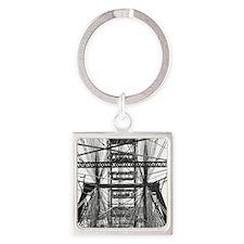 Chicago Ferris Wheel Square Keychain