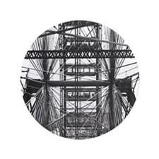"""Chicago Ferris Wheel 3.5"""" Button"""