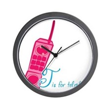 T is for Telephone Wall Clock