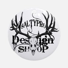 Saltypro Design Shop Round Ornament