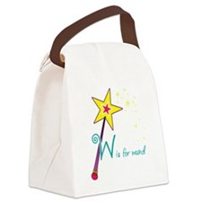 W is for Wand Canvas Lunch Bag