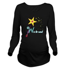 W is for Wand Long Sleeve Maternity T-Shirt