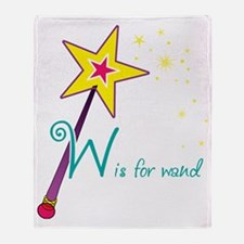 W is for Wand Throw Blanket