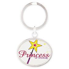 Princess in Training Oval Keychain