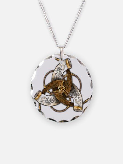 Odins Triple Horns Necklace