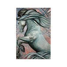Blue Horse 16 23x25 Rectangle Magnet