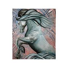 Blue Horse 16 23x25 Throw Blanket