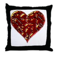 Molten Heart Cracked Valentine Design Throw Pillow