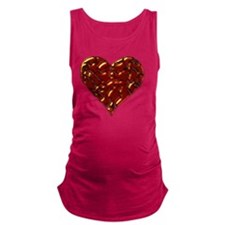 Molten Heart Cracked Valentine  Maternity Tank Top