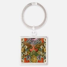 Forms of Nature 2 Square Keychain