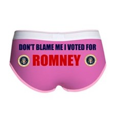 DONT BLAME ME I VOTED FOR ROMNEY Women's Boy Brief