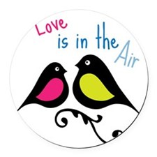 Love is in the Air Round Car Magnet