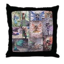 fairy all over t shirt Throw Pillow