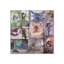 """fairy all over t shirt Square Sticker 3"""" x 3"""""""