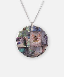 fairy all over t shirt Necklace Circle Charm