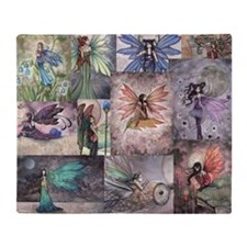 fairy all over t shirt Throw Blanket
