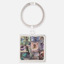 fairy all over t shirt Square Keychain