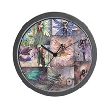 fairy all over t shirt Wall Clock